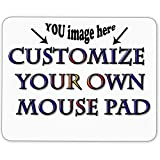 design your own mouse pad - Personalized Mouse Pad - Add Pictures, Text, Logo or Art Design and Make Your own Customized Mousepad - Gaming, Office, Mousepad.