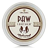 Natural Dog Company PAW SOOTHER | Organic, All-Natural | For Healing Dry Cracked Dog Paw Pads | 4 oz Tin