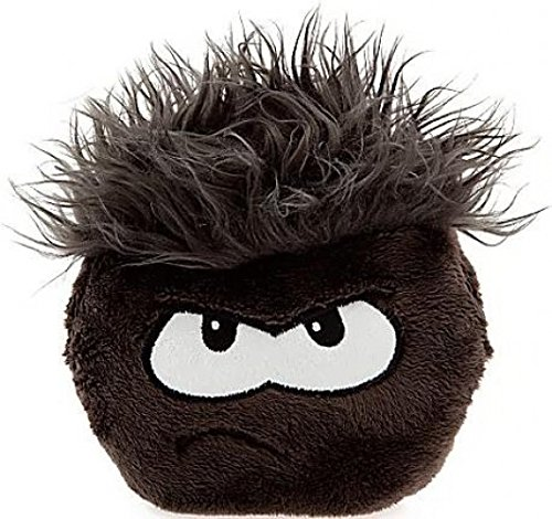 Disney Club Penguin 6 Inch Deluxe Plush Puffle Black Includes Coin with Code! by Jakks ()