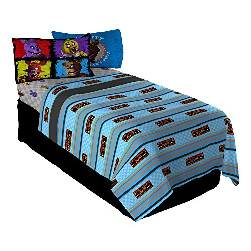 Scott Games Five Nights at Freddy's Pizza Security Twin Sheet Set ()