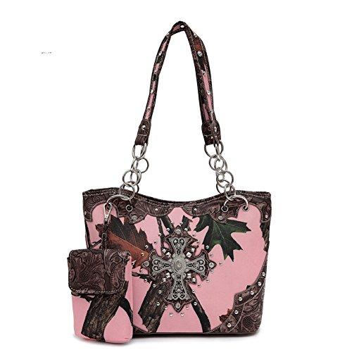Blancho Bedding Womens [Leaves Elves] Bolsa De Cuero PU Bolsa Elegante Handbag 1 - Brown