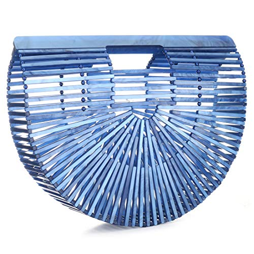 IBELLA Womens Acrylic Handbag Handmade Ark Clutch ()
