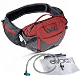 Evoc Hip Pack Pro 3 + 1.5L Hydration Pack - Carbon Grey/Chili Red - 102504126