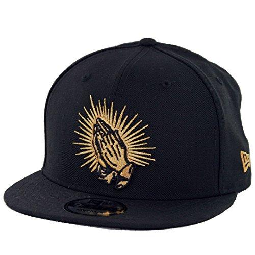New Era 9Fifty Praying Hands Snapback Hat (Black) Men's Latin America - Snap Logo Era New