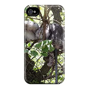 Awesome Crazy Cat Flip Case With Fashion Design For Iphone 4/4s