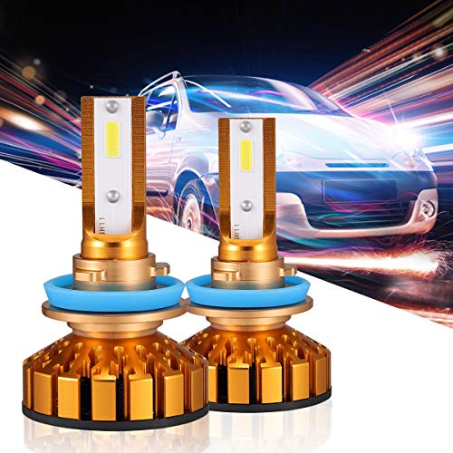 (HOLOON H11 Led Headlight Bulb, 10000LM Extremely Bright CSP Chips Cars Motorcycle Small H8 H9 LED Headlight Conversion Kit 60W 6000K Cool White - 2 Years Warranty )