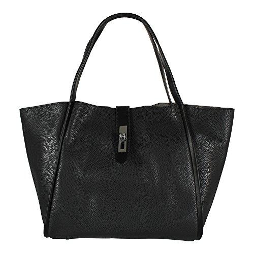 Tom & Eva Damen Shopper 6438 inkl. Kosmetiktasche schwarz