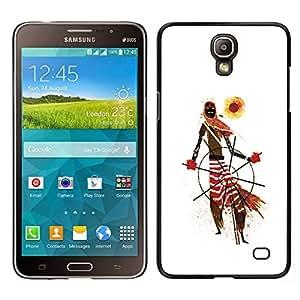 Caucho caso de Shell duro de la cubierta de accesorios de protección BY RAYDREAMMM - Samsung Galaxy Mega 2 - Modelo tribal africana Hombre Arte Bufanda Sun