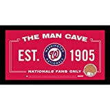 MLB Washington Nationals Man Cave Sign 6 x 12 Framed Photo With Authentic Game-Used Dirt