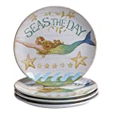Certified International Sea Beauty Dinner Plates (Set of 4), 11'' x 1'', Multicolor