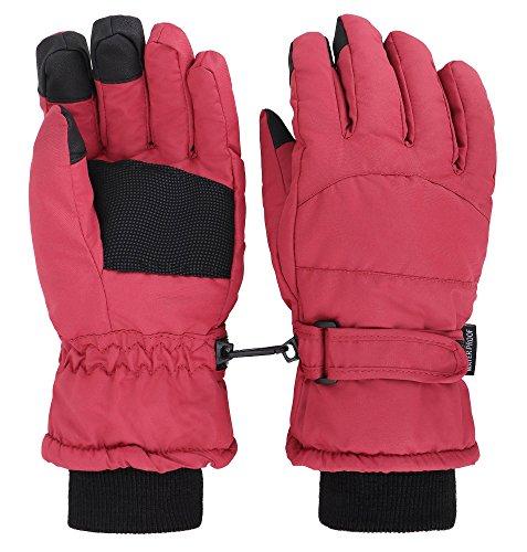 ThunderCloud Womens Winter Waterproof Thinsulate Cotton Touchscreen Ski Gloves