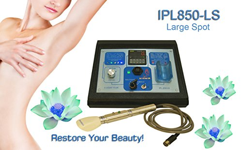 IPL850-LS220 Large Spot E Light Professional IPL Laser Hair & Wrinkle Removal Machine for 220-240 Volt Use by Schonheit IPL-Lasersystemen