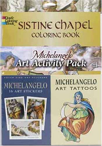 Michelangelo Art Activity Pack (Dover Coloring Book) by Dover Publications (Image #1)