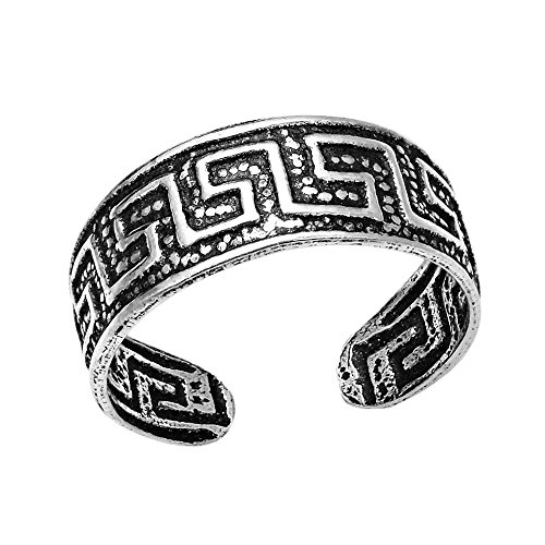 Greek Key Toe Ring - 2