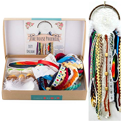 Colorful Make Your Own Dream Catcher Craft Kit Do It Yourself Home Decor DIY Stocking Stuffer Gift from The House Phoenix
