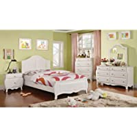 247SHOPATHOME Idf-7940F-6PC Childrens-Bedroom-Sets, Full, White