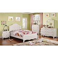 247SHOPATHOME Idf-7940T-6PC Childrens-Bedroom-Sets, Twin, White
