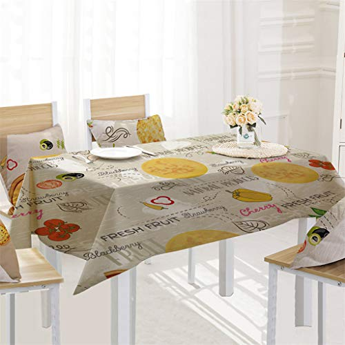 (Like-best Square Rectangular Linen Tablecloth/Pizza Table Cover for Kitchen Dinning Tabletop Decoration 55 X 70'')