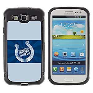 SHIMIN CAO@ Indianapolis Colt Rugged Hybrid Armor Slim Protection Case Cover Shell For S3 Case ,I9300 Case Cover ,I9308 case ,Leather for S3 ,S3 Leather Cover Case