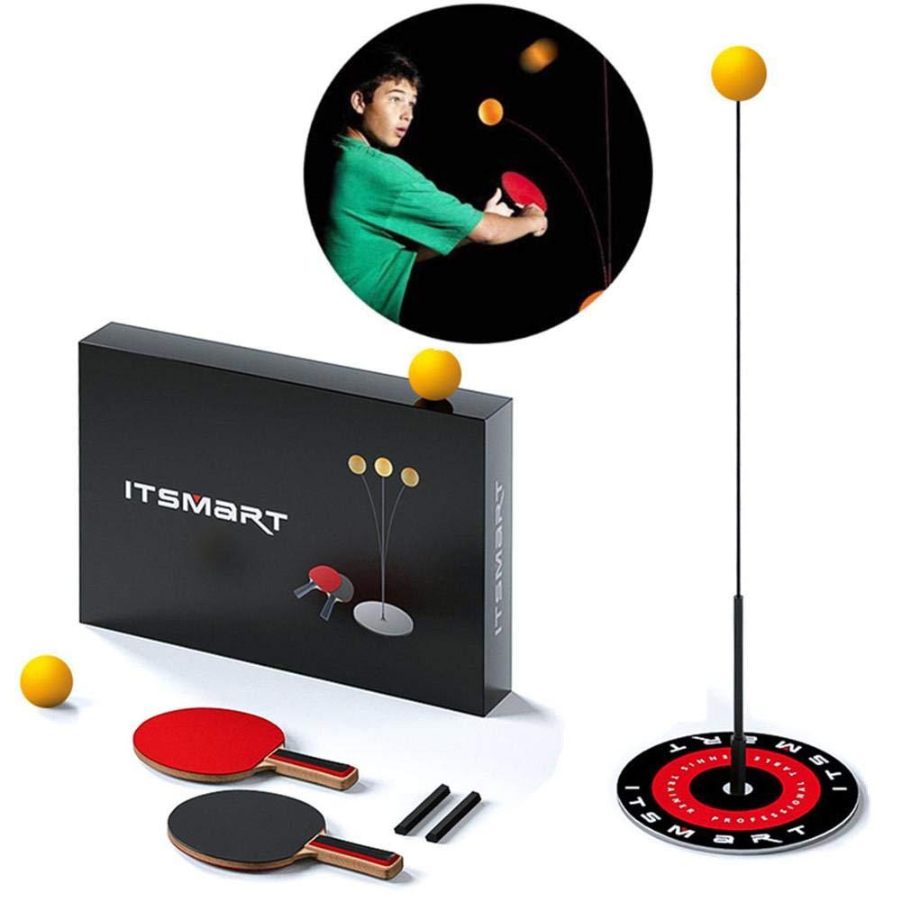 Einzelne Tischtennistrainer Set weichem Schaft Tischtennis-Trainingsausr/üstung f/ür Anf/änger im Innen- und Au/ßenbereich Geschenk f/ür M/ädchen und Jungen Tischtennisschl/äger und -b/älle mit elastischem