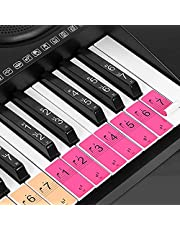 Lixada- Piano Keyboard Keys Stickers for Beginners for 88/61/54 Keys Piano