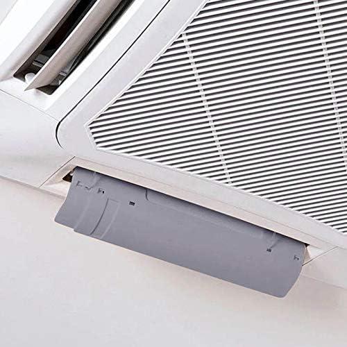 Wnuanjun, 46-80cm Nuevo Parabrisas retráctil Aire Acondicionado Parabrisas Anti-soplado General Aire Acondicionado Guía del Viento Parabrisas (Color : Blanco): Amazon.es: Hogar