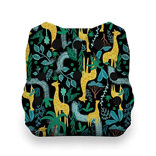 Thirsties Animalia Cloth Diaper Collection Package, Snap Newborn All in One Cloth Diaper, Animalia by Thirsties (Image #6)