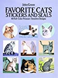 Favorite Cats Stickers and Seals, John Green, 048626369X