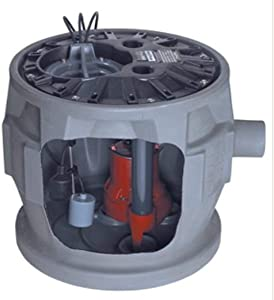 Liberty Pumps P382LE51/A2-EYE 1/2 hp Pre-Assembled Simplex Sewage System with NightEye Technology, 10' Cord and 2