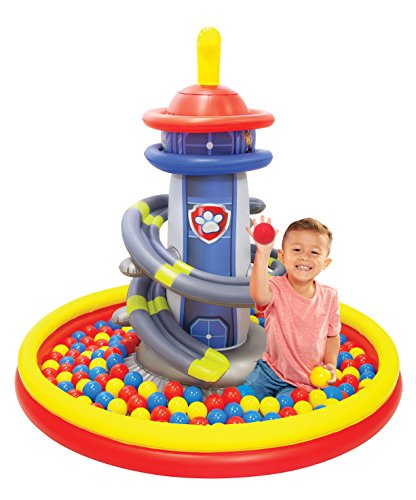 Paw Patrol Lookout Tower Ball Pit, 1 Inflatable & 50 Sof-Flex Balls, Blue/Red, 43