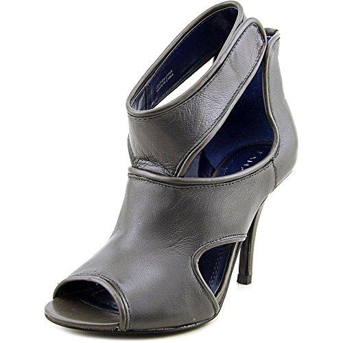 Tahari Lalla Women US 5.5 Gray Peep Toe Heels - Lalla Dress