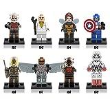 BTZ Toys 8pcs/lot 2016 New Minifigures Super Heroes Avengers Toys for Kids - Ant-Man Captain-America