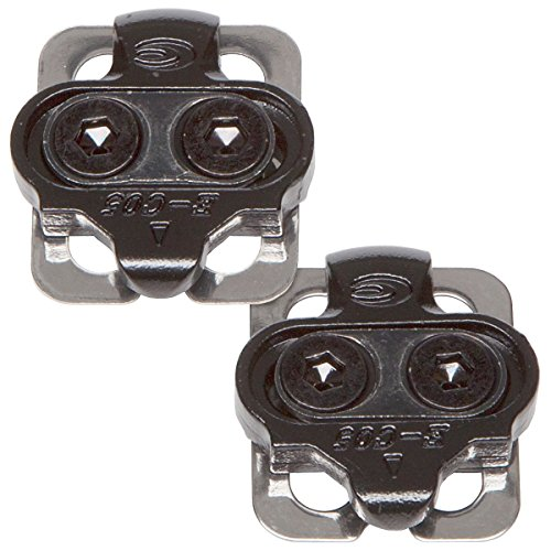 VeloChampion Shimano Compatible SPD Pedal Cleat Set - fit any standard SPD shoes and SHIMANO mountain SPD pedals