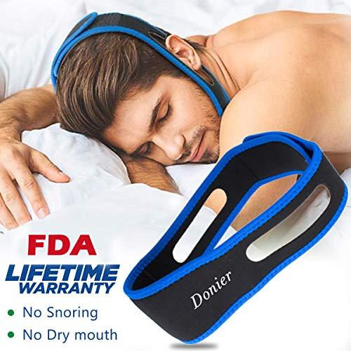 [2019 Upgraded] Stop Snoring Chin Strap, Comfortable Natural Snoring Solution Snore Stopper Anti Snoring, Most Effective Anti Snoring Devices Stop Snoring Sleep Aid Snore Reducing Aids for Men Women