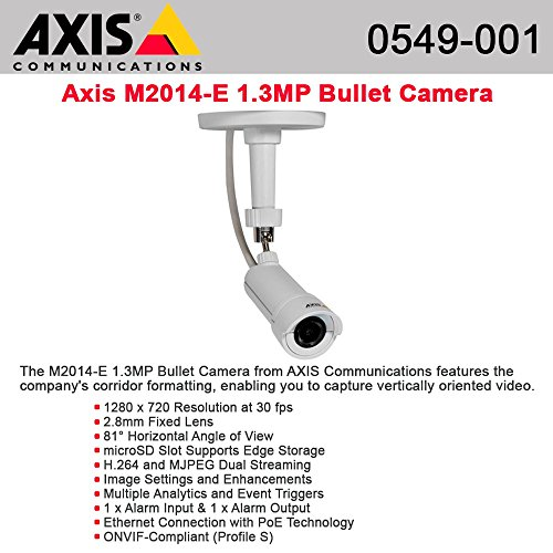 Axis M2014-E Small HDTV Network Bullet Camera for Retail Environment
