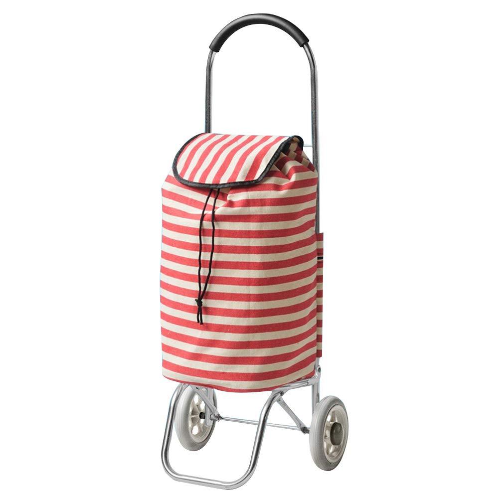 ZHAOHUI ショッピングカート 折りたたみ可能 アルミニウム合金 オックスフォード布 フォームホイール 防水 軽量 耐摩耗性、 2色 (色 : B)  B B07LDBBCRK