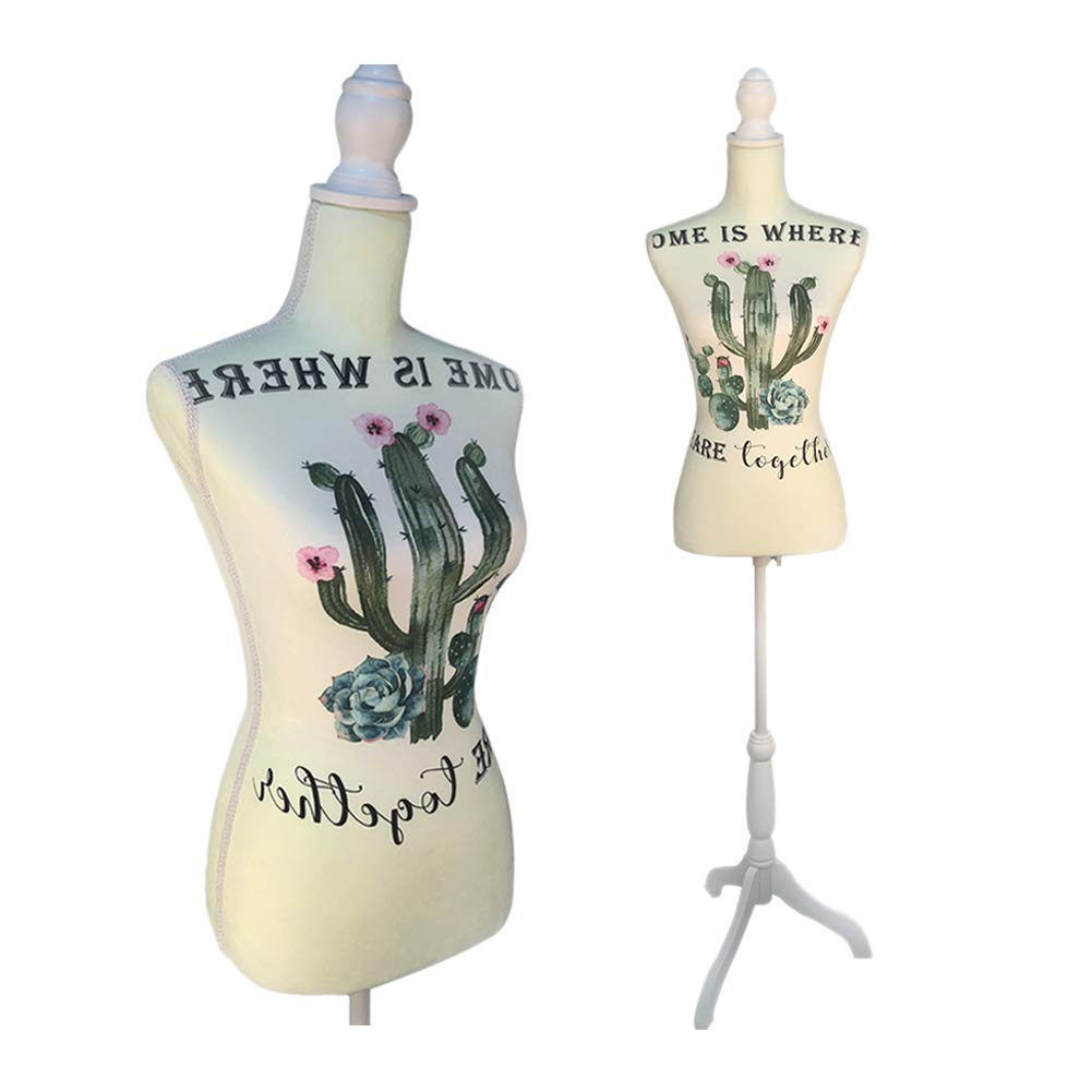 Female Mannequin Torso Dress Form Tripod Stand display Cactus Style