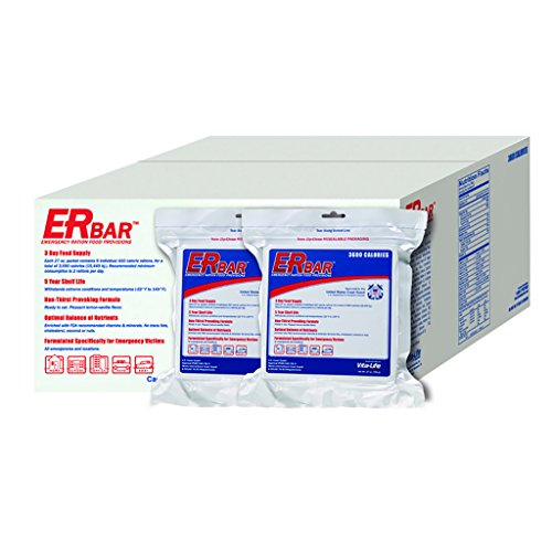 ER Emergency Ration 1BC 3600 Calorie Emergency Food Bar for Survival Kits and Disaster Preparedness (Case of 20) by ER Emergency Ration