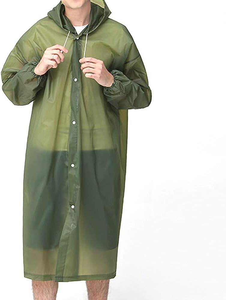 L-Rain Durable TPU Clear Rain Coat for Adults Women and Men Fashion Hooded Rain Poncho