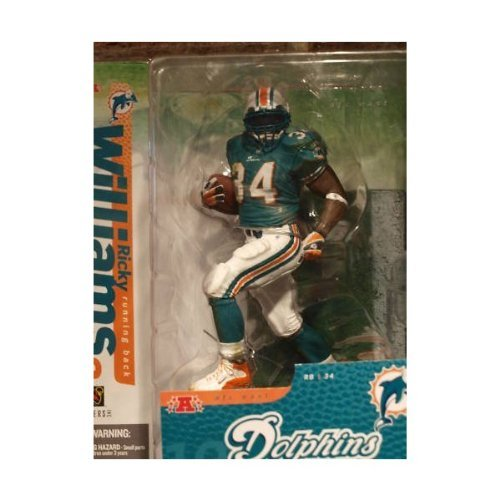 Ricky Williams 2nd Edition #34 Miami Dolphins Green Jersey Green Face Mask Color Alternate Variant Chase McFarlane NFL Six Inch Action Figure by McFarlane Toys by Unknown