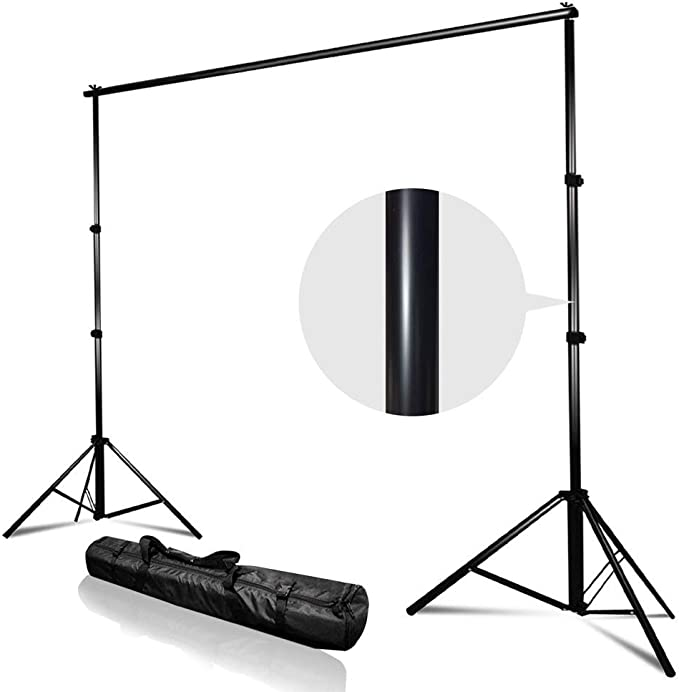 Amazon Com Kshioe Upgraded Background Stand 8 5ft 10ft Adjustable Heavy Duty Backdrop Support System Kit With Carry Bag For Photography Photo Video Studio Photography Studio Camera Photo
