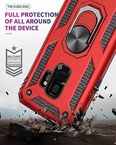 Kompatibel Samsung Galaxy S9 H/ülle Handyh/ülle Samsung S9 Plus S9 Handy H/ülle,360 Grad Drehbar Ringhalter Magnetische H/üllen Dual Layer Hybrid Schutzh/ülle f/ür Samsung Galaxy S9 Case Cover Schutz