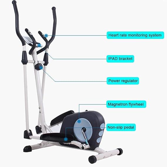 YHM Mini elípticas, Bicicleta elíptica con exhibición de múltiples Funciones, bidireccional Rodillo, fácil de Mover, sin Brazos, Equilibrio Práctica (Color : with Seat): Amazon.es: Hogar