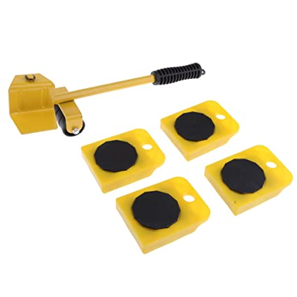 5-set Furniture Mover Slider Glider Roller Lifter Para Sof/á Mesas Gabinete Amarillo