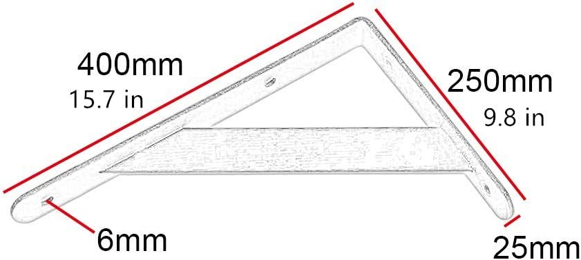 Montado en la pared L soporte de repisa servicio pesado de 90 grados de /ángulo de esquina soportes de suspensi/ón con tornillos flotante Gabinete r/ústico Ba/ño de soporte del estante 4 PC,Blanco,300mm