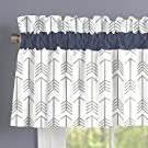 Carousel Designs White and Gray Arrow Window Valance Rod Pocket
