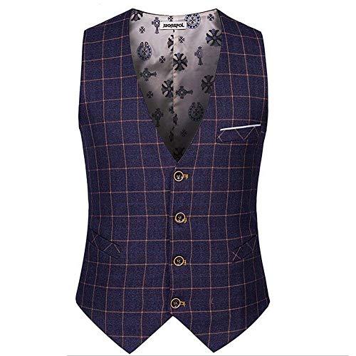 Plaid 4 Kariert Casual Business Tight Cut 3 Gilet Hommes Yasminey Bouton Ver Élégant Couleurs Avec Jeune Costume Solenn ApS7Bwnqvx