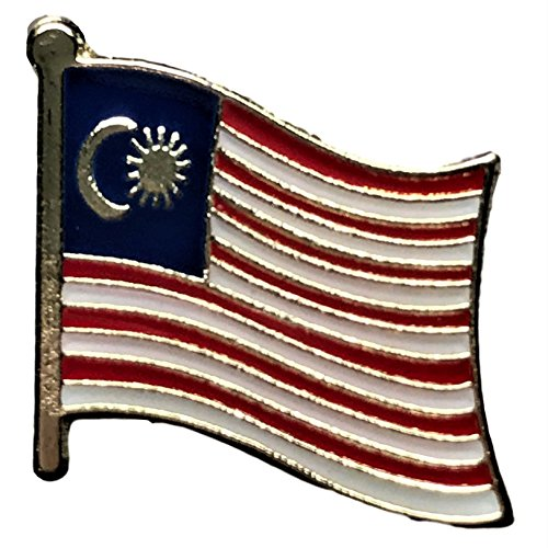 "Backwoods Barnaby Malaysia Flag Lapel Pin/International Travel Pins Collections by (0.75"" x 0.75"")"