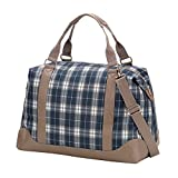 VIV&LOU High Fashion Print Weekender Bag (Monogrammed, Middleton Plaid)