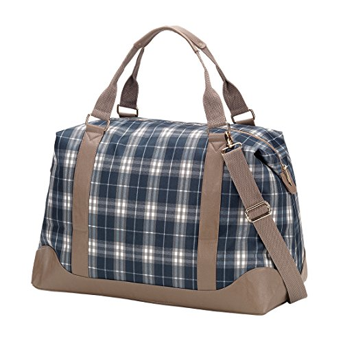 VIV&LOU High Fashion Print Weekender Bag (Blank, Middleton Plaid) by Wholesale Boutique